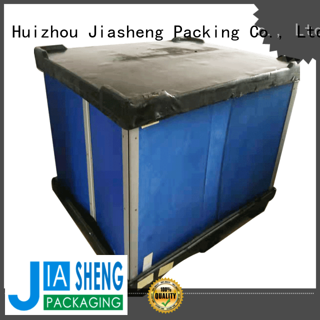JIASHENG 5 star service plastic container box for importer